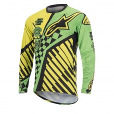 ALPINESTARS SIGHT SPEEDSTER L/S JERSEY BRIGHT GREEN/ACID YELLOW/