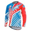ALPINESTARS SIGHT SPEEDSTER L/S YOUTH JERSEY RED/BRIGHT BLUE