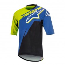 ALPINESTARS SIGHT CONTENDER S/S JERSEY ROYAL BLUE/ACID YELLOW