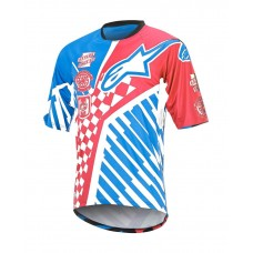 ALPINESTARS SIGHT SPEEDSTER S/S JERSEY RED/BRIGHT BLUE