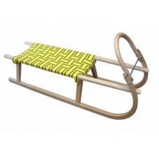 sánky drevené S POPRUHMI 95 cm